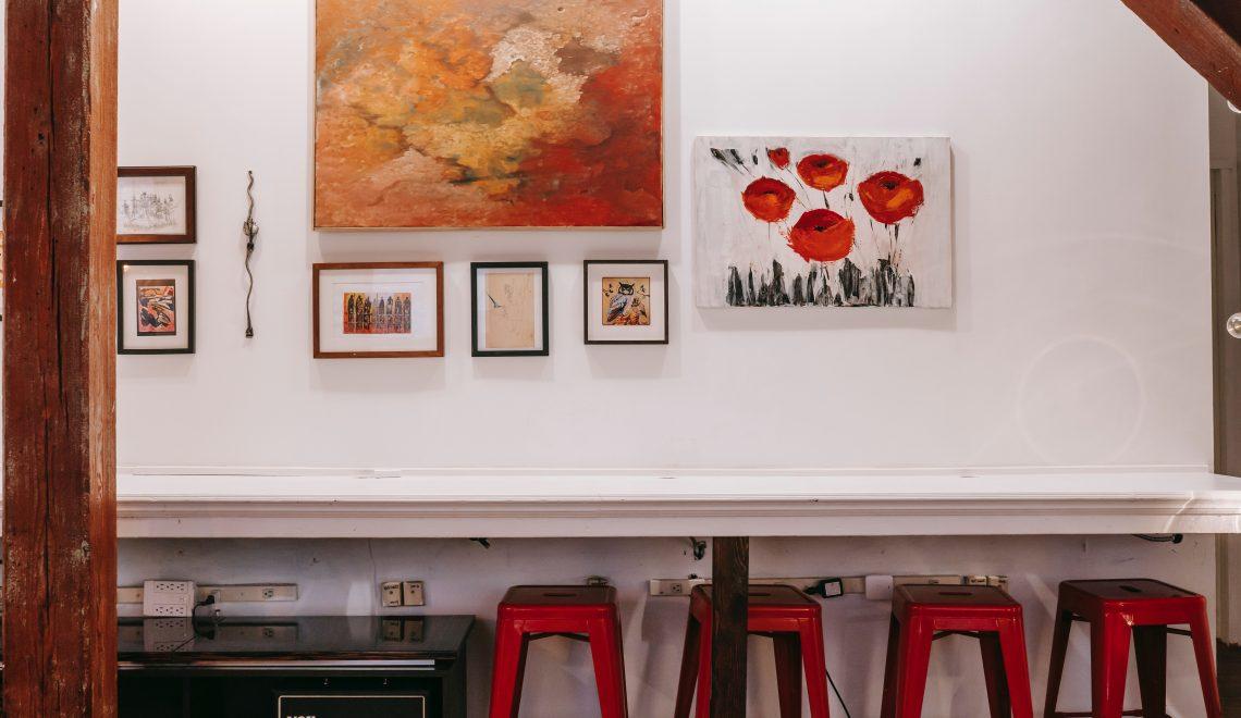 schilderijen in het interieur