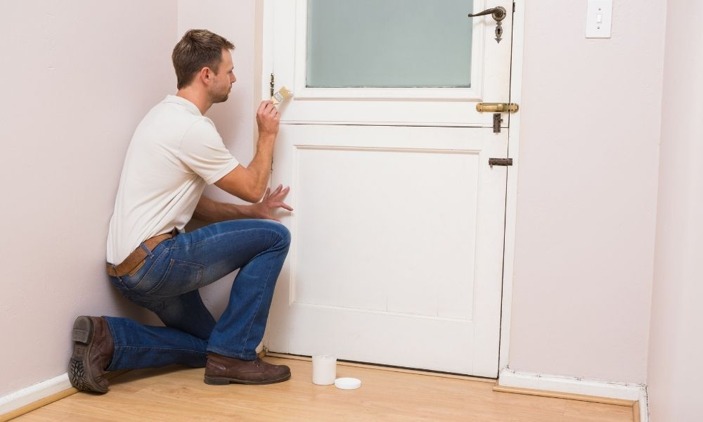 hoe verf je een deur